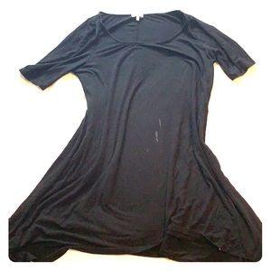 Black Scoopneck Tobi Jersey Tunic